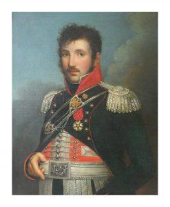 """Le gendarme """"Veto"""" Merda en tenue d'apparat, d'officier de l'Armée Napoléonienne (©️Musée de la Gendarmerie)"""