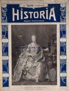 ▲ 5 décembre 1909, parution du premier numéro du magazine Historia, avec en tête d'affiche la marquise de Pompadour. (©RMN)