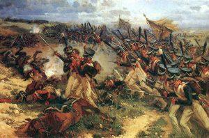 La dernière charge héroïque du colonel Méda à la tête de ses troupes lors de la bataille de la Moskova (©️coll.privée)