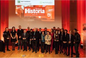 ▲ Depuis 2010, le magazine Historia récompense les auteurs, chercheurs, archéologues et réalisateurs qui ont marqué l'année de leur empreinte, comme ici en 2016 (©Thomas Salva)