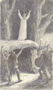 Représentation romantique du XIXe siècle sur l'imaginaire du druide gaulois Ⓒ Pinterest